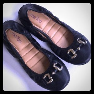 Me Too Black Ballet Flat Size 9 Like New